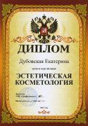 диплом мастера Дубовской Екатерины